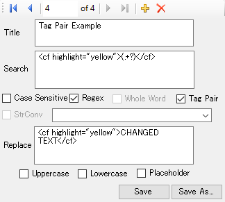 conversion file tag pair example